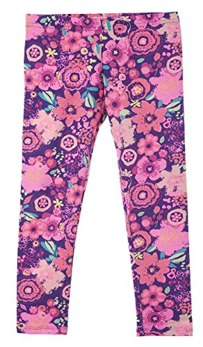 OFFCORSS Printed Colorful Lycra Leggings Leg Warmers Ankle Pants Purple Size 14 (Tween Leggings)