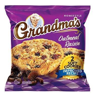 Grandma's Oatmeal Raisin Cookie - 2 cookies per pk. - 60 ct. - (Original from manufacturer - Bulk Discount - Raisin Oatmeal Cookies Chewy