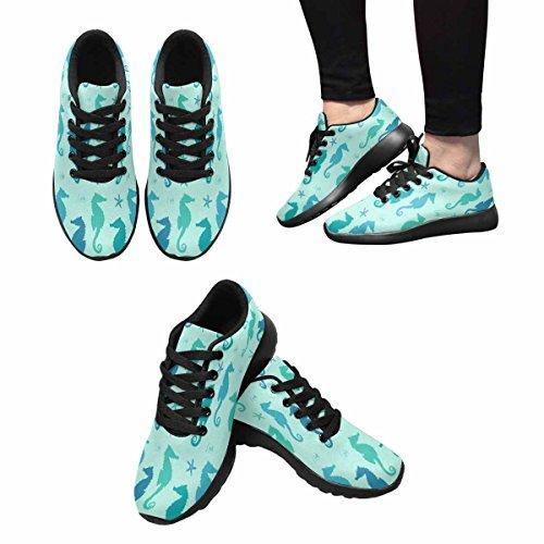 Chaussures De Course Trailprint Footprint Femmes Jogging Sports Légers Marchant Des Baskets Athlétiques Silhouettes Hippocampe Sur Un Fond Vert 12 B (m) Us