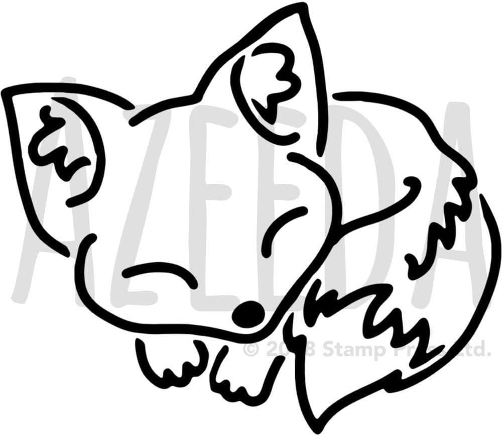 Vorlage WS00029597 Azeeda Gro/ß A2 Schlafender Fuchs Wandschablone
