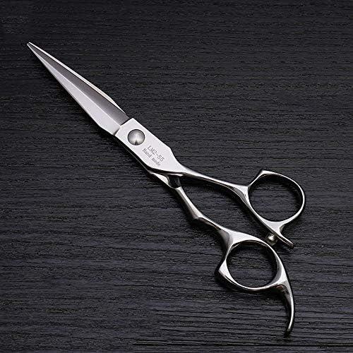 ヘアカット鋏 はさみ 5.5インチの美容院のステンレス鋼の毛のCutting専門家用具 ヘアトリミングシザー (Color : Silver)