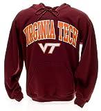 Elite Fan Shop NCAA Men's Virginia Tech Hokies Hoodie Sweatshirt Team Color Arch Virginia Tech Hokies Maroon Medium