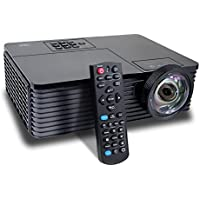 NIERBO HD Projectors Home Theater 3D DLP Short Throw 6000 Lumens Daytime Presentation Meeting Outdoor 240W Bulb