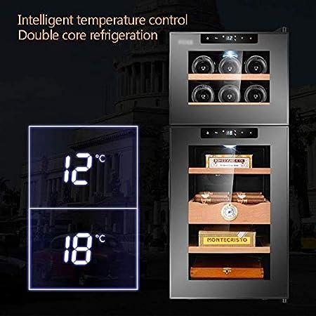 YFGQBCP Doble Temperatura del Vino Coole, Bodega Nevera táctil Tranquila Control de la Temperatura de Funcionamiento Nevera