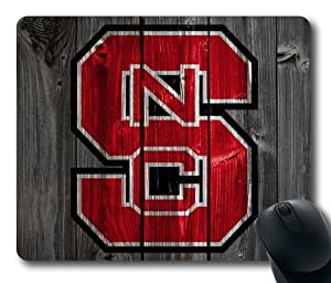 North Carolina State Wolfpack Wood Look Mouse Pad, Customized Rectangle Mousepad Diy By Bestsellcase by ruishername