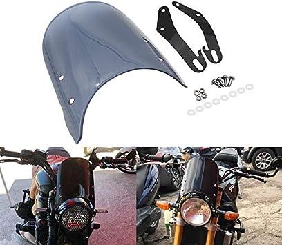 SODIAL Motorrad Windschutz Scheiben Windschutz Scheibe Scheinwerfer Verkleidung f/ür Benelli Leoncino 500 Schwarz