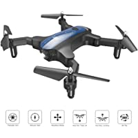 ScharkSpark Drone for Beginners, Portable RC Mini Quadcopter with Foldable Arms Indoor/Outdoor Play, 6-Axis Gyro One-Key Return/Headless Mode/Altitude Hold/3D Flips, Warrior II