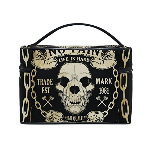 Gothic Punk Skull Portable Travel Makeup Cosmetic Bags Toiletry Organizer Multifunction Case