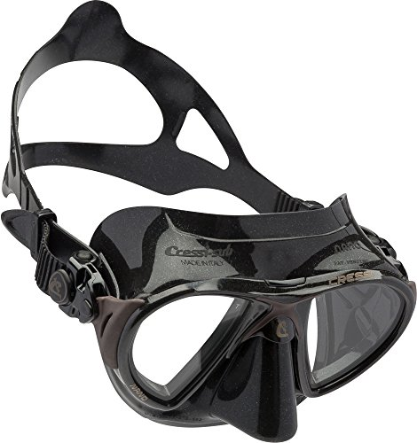 Cressi NANO Expert Adult Compact Mask for Freediving & Scuba Diving, Brown/Black