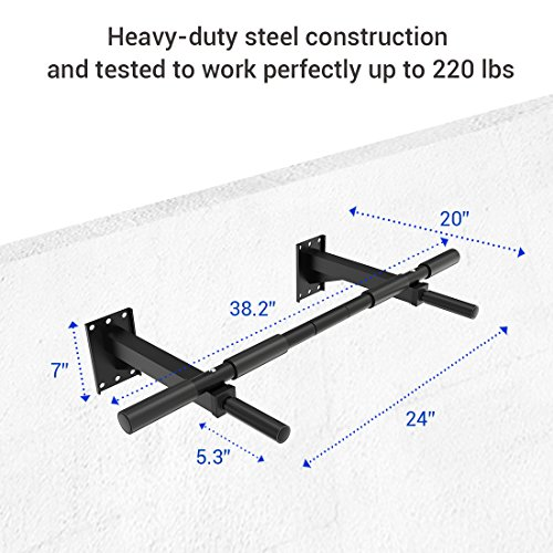 Fitleader FC2 Heavy Duty Upper Body Wall Mounted Pull Up Bar