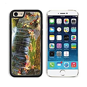 Autumn Leaves River Waterfall Stones Apple iPhone 6 TPU Snap Cover Premium Aluminium Design Back Plate Case Customized Made to Order Support Ready Liil iPhone_6 Professional Case Touch Accessories Graphic Covers Designed Model Sleeve HD Template Wallpaper Photo Jacket Wifi Luxury Protector Wireless Cellphone Cell Phone