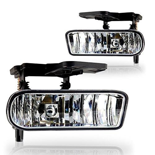 (Winjet WJ30-0388-09 OEM Series for GMC [1999-2002 Sierra] [2000-2006 Yukon XL] Driving Fog Lights GM2592110 GM2593110)
