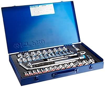 "KT Pro Tools A4504CR 1/2"" Drive 6-Point Socket Set"