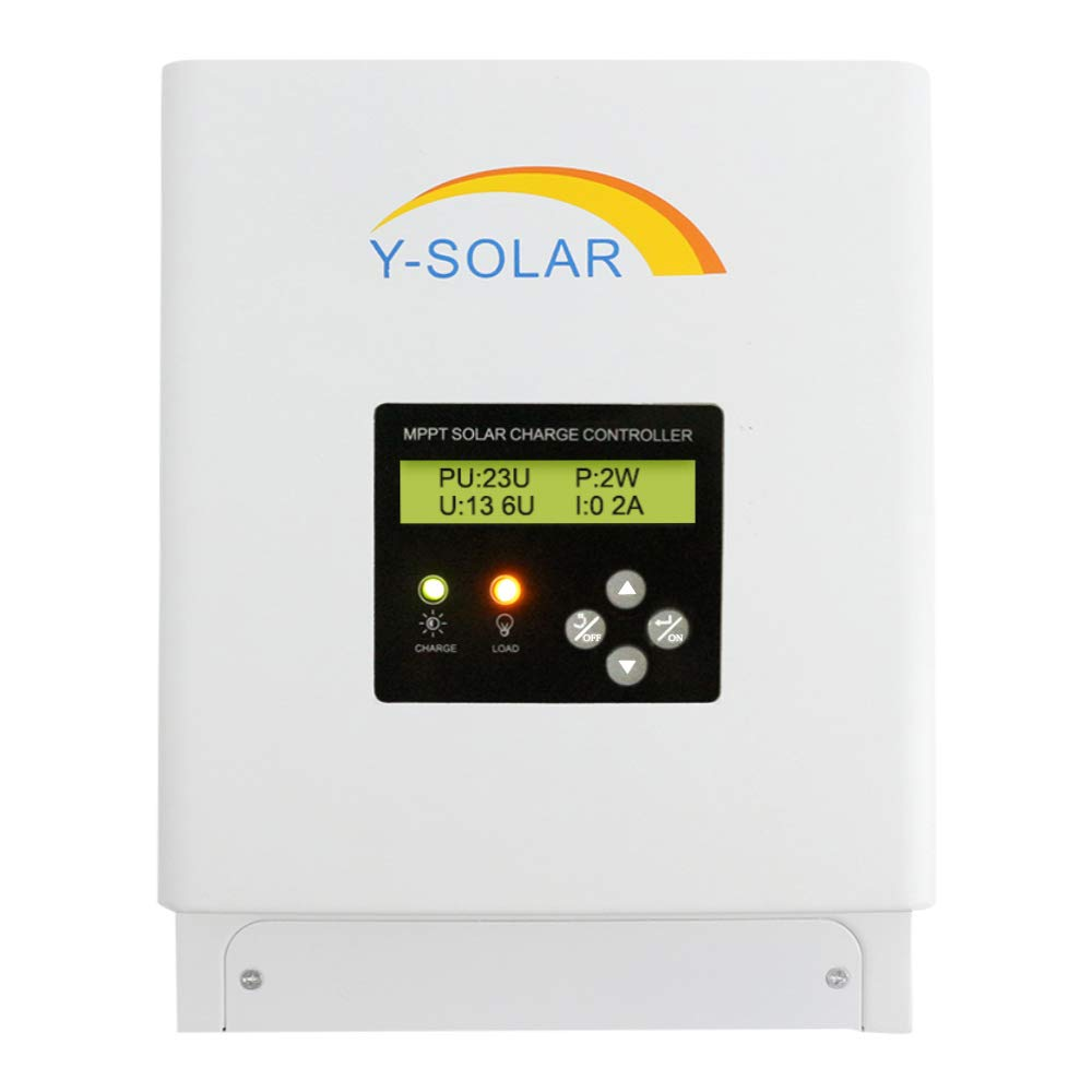 MPPT Charge Controller 60 amp, 48V 36V 24V 12V Auto 60A Solar Panel Charge Regulator, Max 150VDC Input with Backlight LCD Display for Lead-Acid Sealed Gel AGM Flooded Lithium Battery by Temank