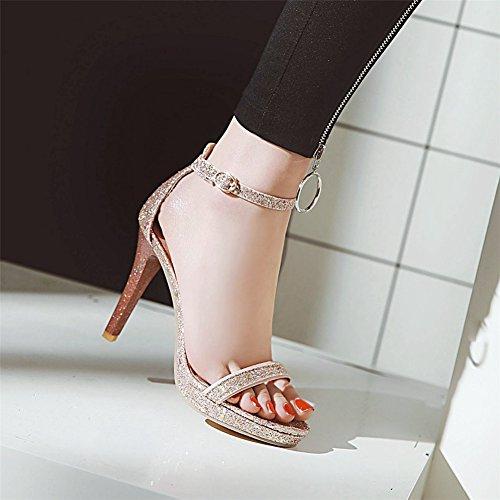e SHINIK di e America Sandalo donna con da Europa C forma a Scarpe scarpe impermeabili paillettes alto tacco scintillanti Glitter SxqgSarnwC