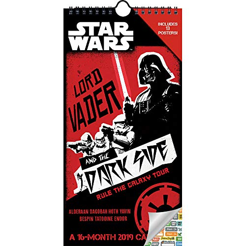 Star Wars Calendar 2019 Set - Deluxe 2019 Star Wars Mini Poster Calendar with Over 100 Calendar Stickers (Star Wars Gifts, Office Supplies)