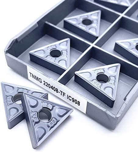 WITHOUT BRAND 10pcs / Set TNMG220408 TF IC907 / IC908 Außendrehwerkzeuge TNMG 220408 Karbid-Einsätze Drehschneider Schneidwerkzeug CNC-Werkzeuge (Farbe : TNMG220408 TF IC908)
