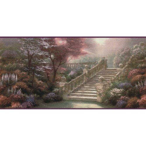 Thomas Kinkade Border (Decorate By Color Purple Stairway To Paradise Border)