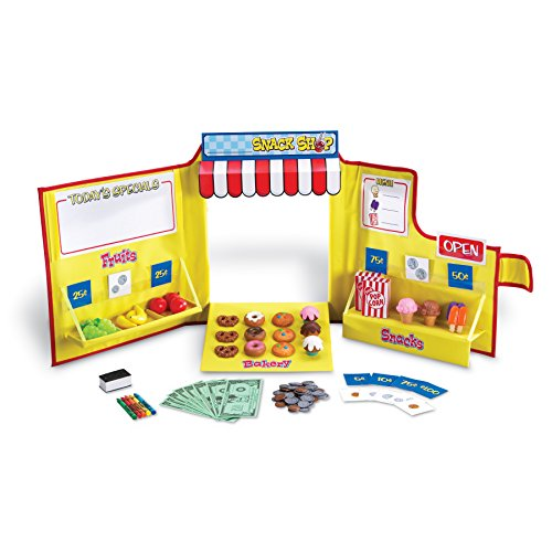 - Learning Resources This Easy to Assemble Snack Shop engages Young Children in Imaginative Play