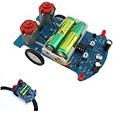 Robocraze 4 Diy Line Follower D2-5 Intelligent Tracking Car Kit 3V Small Smart Car DIY Kit RC-A-100