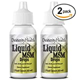 Liquid MSM Eye Drops, 2-Pack of 2oz Dropper-Top Bottles, Vegan, Made with Organic MSM, 100% Sterile, Easy to Use
