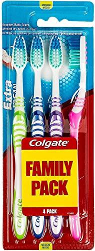 COLGATE – Brosse à Dents Extra Clean Medium – Favorise une Bonne Santé Bucco-Dentaire – Nettoie en Profondeur – Atteint…