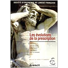 Actes Xxxviie Congres: Evolutions de Prescription