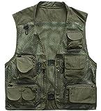 Herebuy8 Men's Mesh Fishing Vest Multi Pockets Photography Outdoor Jacket...
