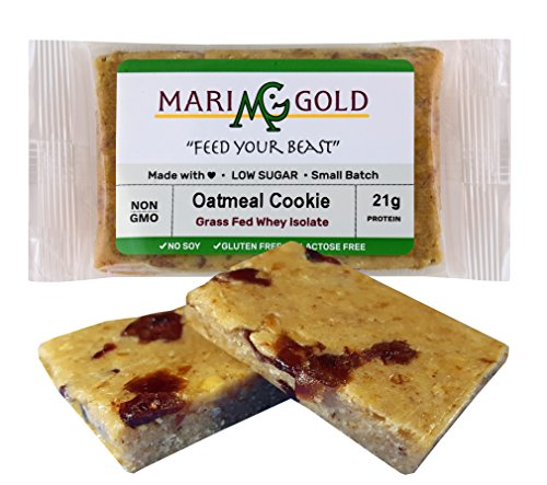 MariGold GRASS FED Whey Protein Bars Sampler Pack- 21+gm Protein, Even LOWER Sugar, Non GMO, Amazing Taste - Made Fresh, Ships Fresh. Purest Ingredients (12) by MariGold Bars (Image #5)