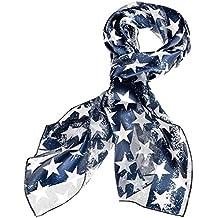 Purple Box Jewelry Patriotic Star Scarf (Faded Blue)