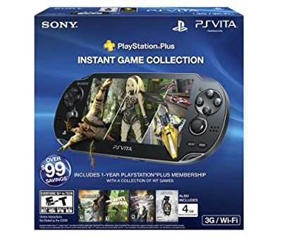 Playstation Vita 3g Bundle - 4gb With Playstation Plus And Unit 13 Voucher by Sony Computer Entertainment