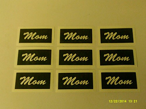10 x Mom word stencils for etching on glass glassware gift present Mothers Day Mothering Sunday