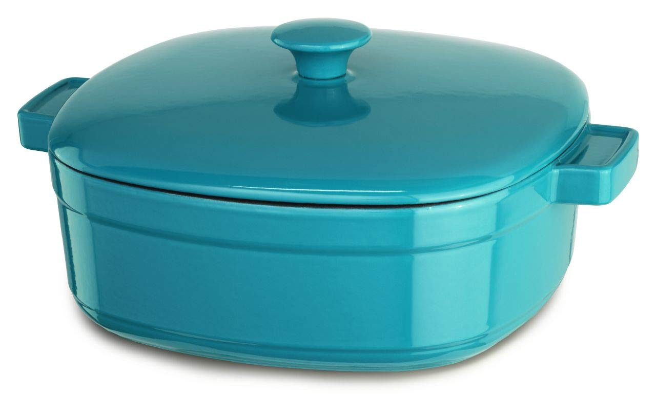KitchenAid kcli60crcc racionalizar hierro fundido 6-quart olla batería de cocina - Azul Azul: Amazon.es: Hogar