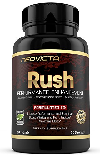 #1 Booster Supplement - Enhance Energy, Stamina, Muscle Mass & Strength - Rush by Neovicta - Powerful All Natural Support - 60 Count - Money Back Guarantee (Gay Sex Poppers)