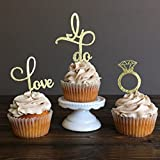 Wedding Cupcake Topper, Food Picks Girls Birthday Party Cake Decor Cupcake Christmas Party Picks, 24 Pieces