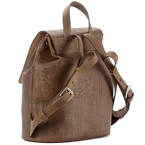 Corkor Cork Backpack - Vegan Handbag For Women Top Flap Back Pack Travel School Brown Color by Corkor (Image #3)