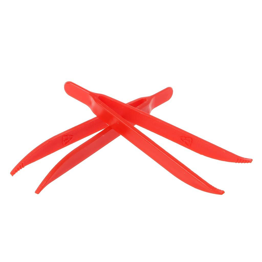 CADANIA 10 St/ück Kunststoff antistatische Pinzette Pinzette Hitzebest/ändige Wartung Repair Tool