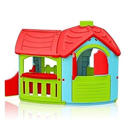MarianPlast 300 0662 Nios Playhouse Villa con el anexo