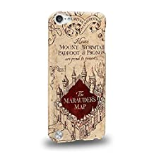 Case88 Premium Designs Harry Potter & Hogwarts Collections Marauder's Map Protective Snap-on Hard Back Case Cover for Apple iPod Touch 5