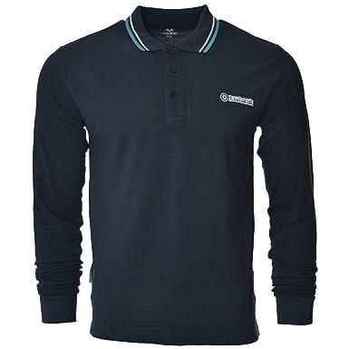 Lambretta Mens Long Sleeve Tipped Smart Retro Scooter Polo Shirts   Amazon.co.uk  Clothing 8c2219026