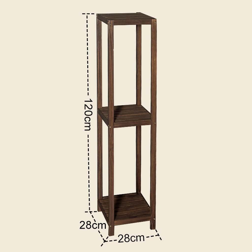AIDELAI Solid wood multi - storey flower - style living room balcony floor wood simple modern flower holder shelves Patio Garden Pergolas ( Size : 2828120cm )