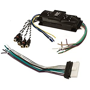 amazon com pac soem4 premium 240w 4 channel adjustable line pac soem4 premium 240w 4 channel adjustable line output converter auto remote amplifier turn on