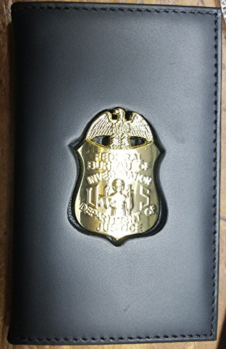 FBI-Style Badge Cut-Out Dual ID Card Wallet (badge/ID not ()