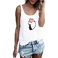 MEIbax Chaleco de Mujer con Estampado de Calaveras Camiseta de Verano Mujer Top Suelto sin Mangas Camisa de Mujer Jersey…