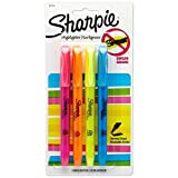 Sharpie 27174/27174PP Pocket Style Highlighters, Chisel Tip, Assorted Colors, 5 Count