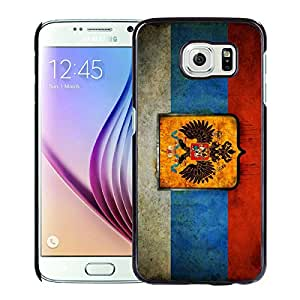 Russia Russian Flag Black Fashionable Design Samsung Galaxy S6 G9200 Plastic Case