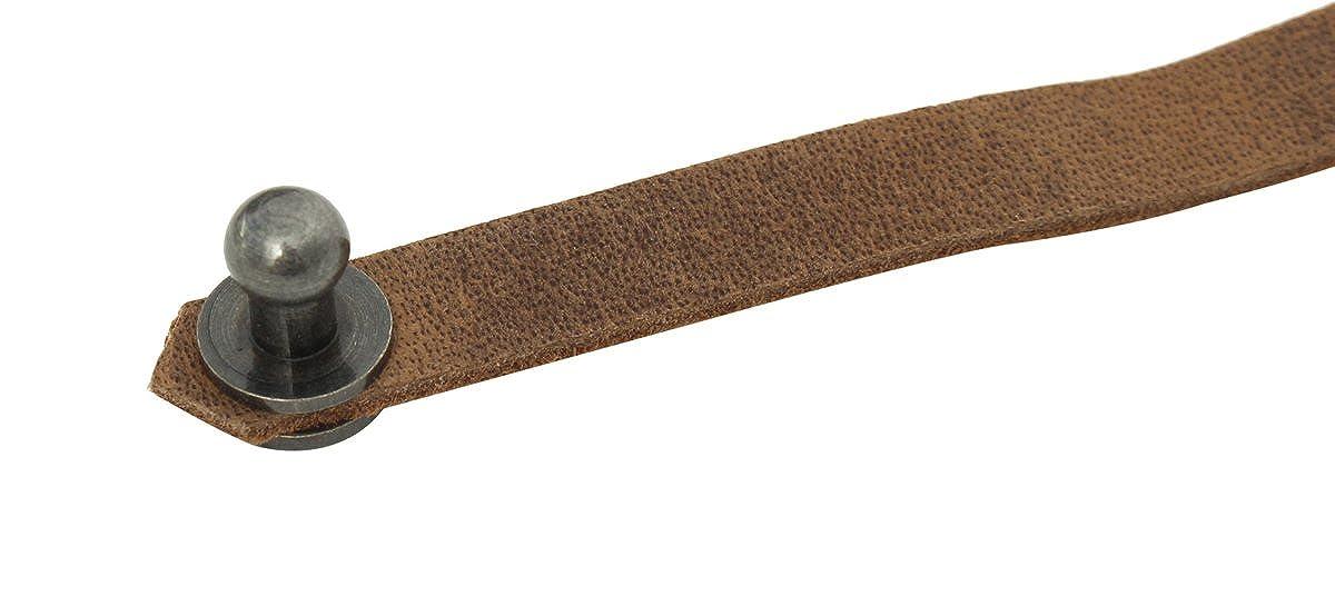 Gusti Leder studio braccialetto di pelle 90 cm elegante alla moda giovanile clip trend marrone antico 2J23-20-5