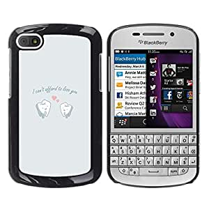 EJOY---Cubierta de la caja de protección la piel dura para el / BlackBerry Q10 / --DIVERTIDO NO PUEDE PAGAR EL AMOR