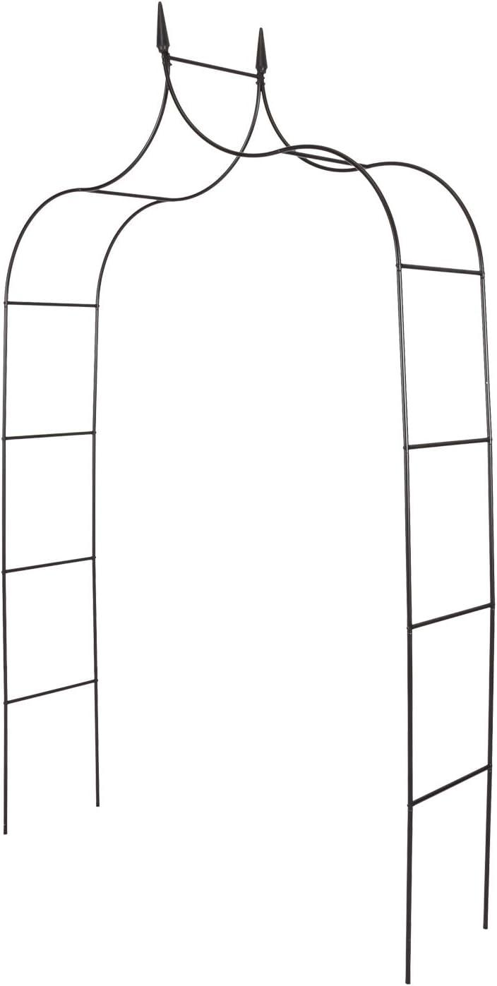 JSUN7 Metal Garden Arbor Gothic Wedding Arch 8' 4