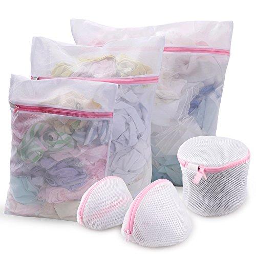 Set of 6 Mesh Laundry Bags KSANA Durable Mesh Wash Laundry Bag Suitable for Blouse, Hosiery, Stocking, Underwear, Bra and Lingerie, Travel Laundry Bag